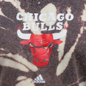 adidas Shirts - Chicago Bulls Adidas Custom Spiral Bleach Tee XL